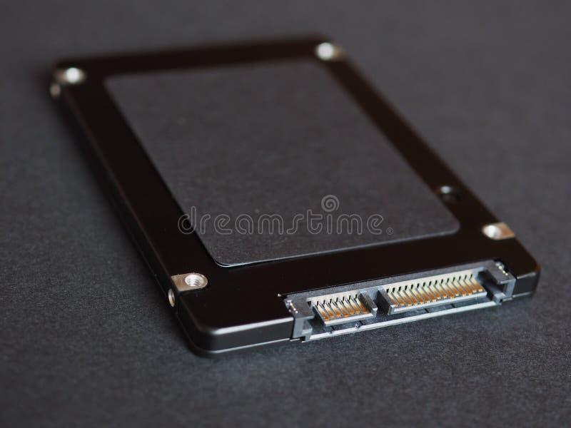 Movimenta??o de circuito integrado do SSD imagem de stock