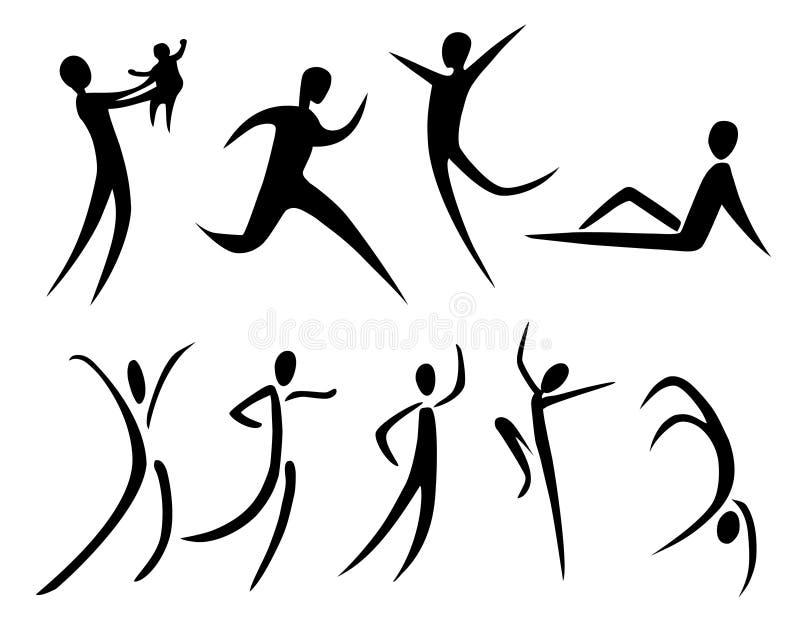 Movimento abstrato ilustração stock
