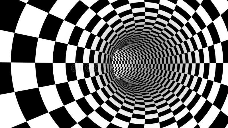 Movimento abstrato da velocidade do verificador no túnel da estrada para a tecnologia ilustração royalty free