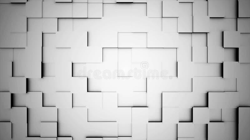 Movimento abstrato dos cubos, animação 3D Fundo abstrato dando laços sem emenda dos cubos Os cubos são compostos no fundo para ilustração stock