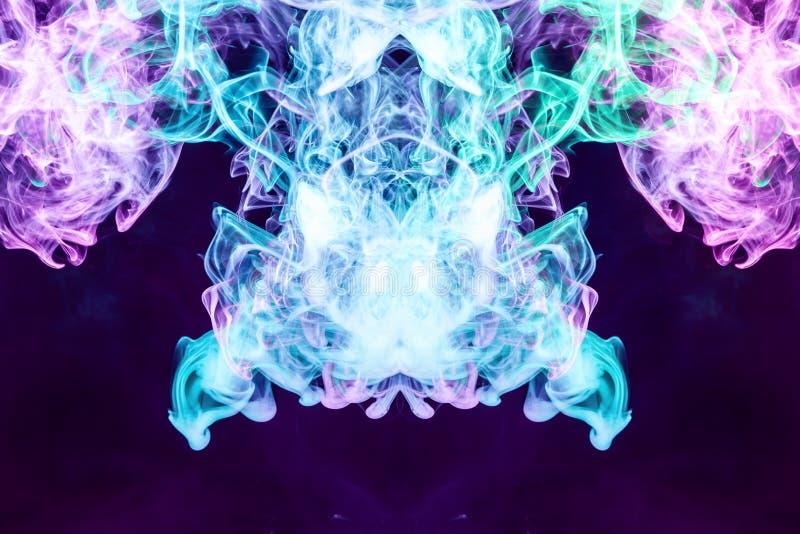 Movimento astratto congelato primo piano del fumo di esplosione illustrazione vettoriale