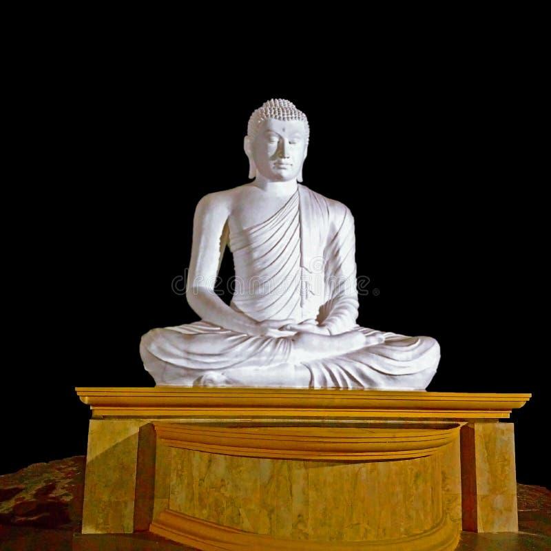 Movimento branco do sddhra da estátua da Buda imagem de stock royalty free
