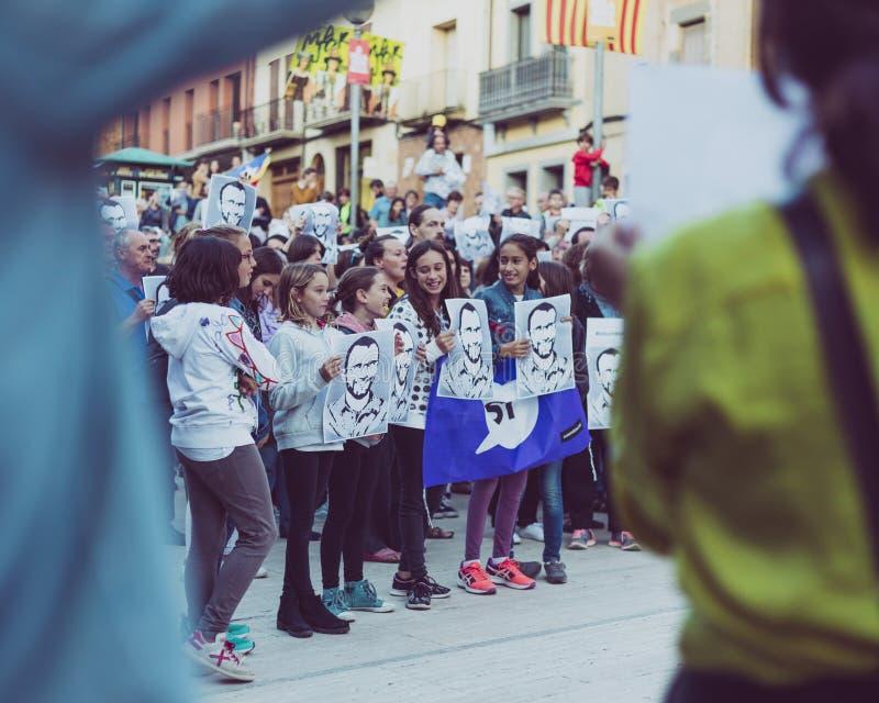 Movimento catalano di indipendenza fotografie stock