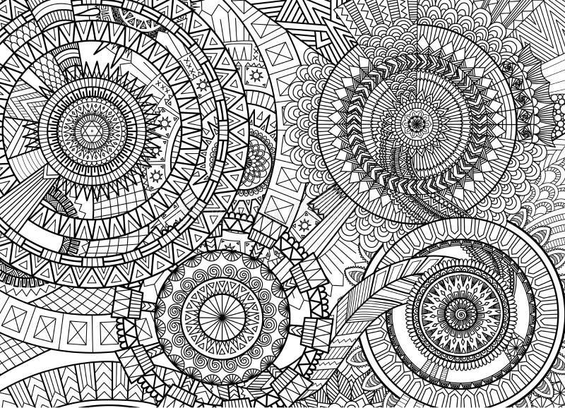 Movimento complexo da mandala ilustração stock