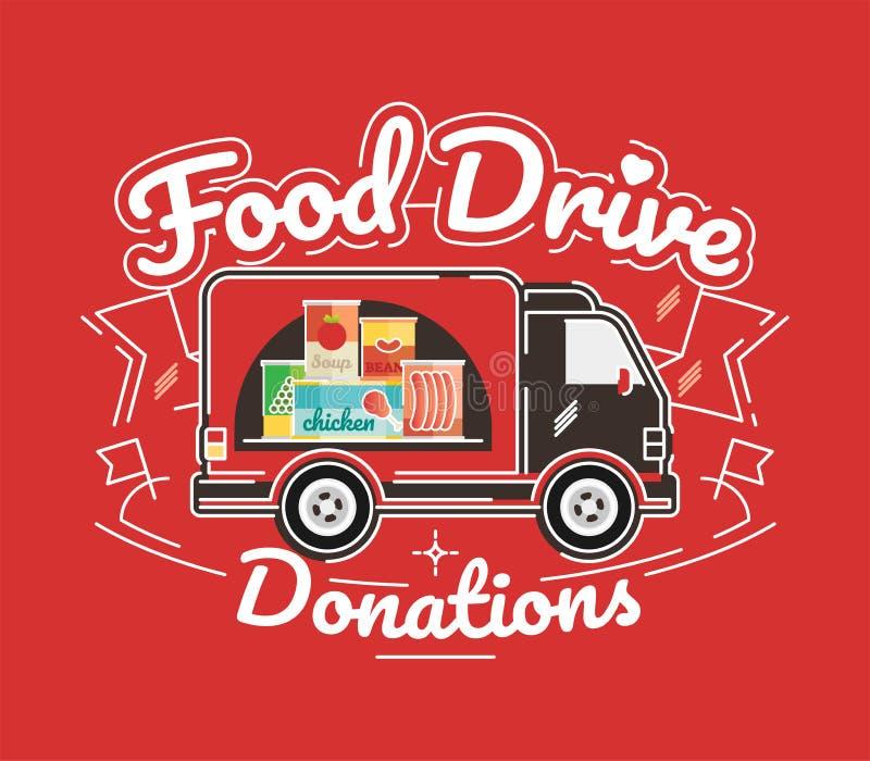 Movimento da caridade da movimentação do alimento, ilustração do vetor ilustração do vetor