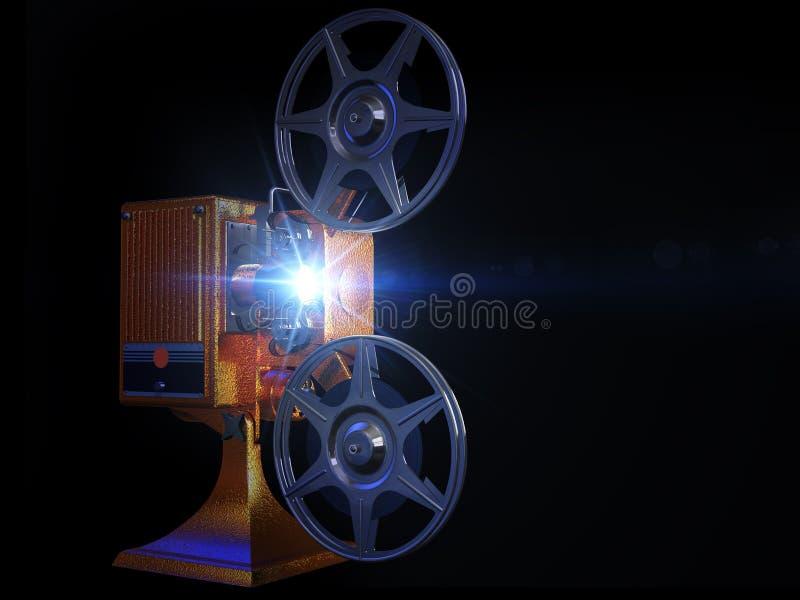Movimento da mostra do projetor de película ilustração stock
