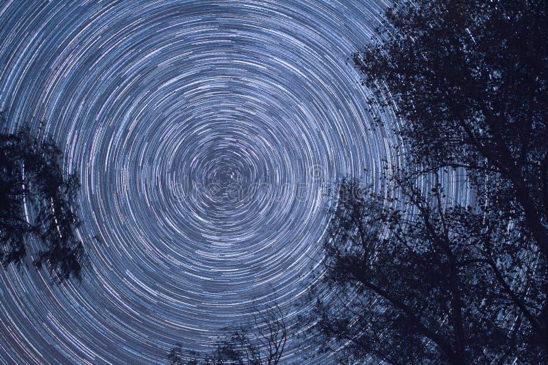 Movimento das estrelas imagem de stock