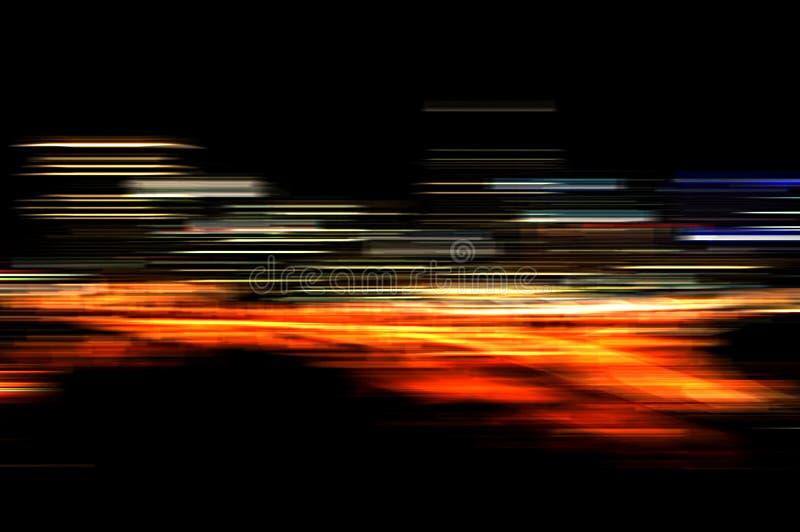 Movimento das luzes fotografia de stock