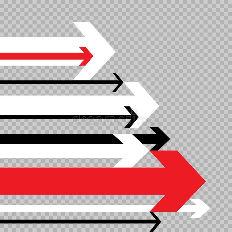 Movimento das setas ao sucesso transparente ilustração stock