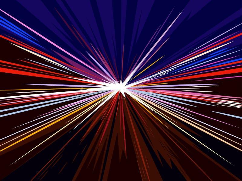 Movimento de alta velocidade no fundo do conceito da estrada Ilustração do vetor ilustração royalty free