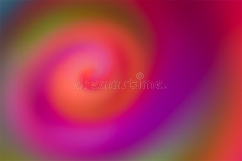 Movimento de bolhas abstratas de fundo pintar um creme rosa brilhante colorido, em base de design pastel ilustração do vetor