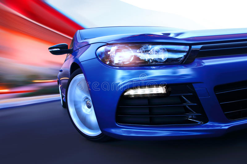 movimento del lusso dell'automobile fotografie stock