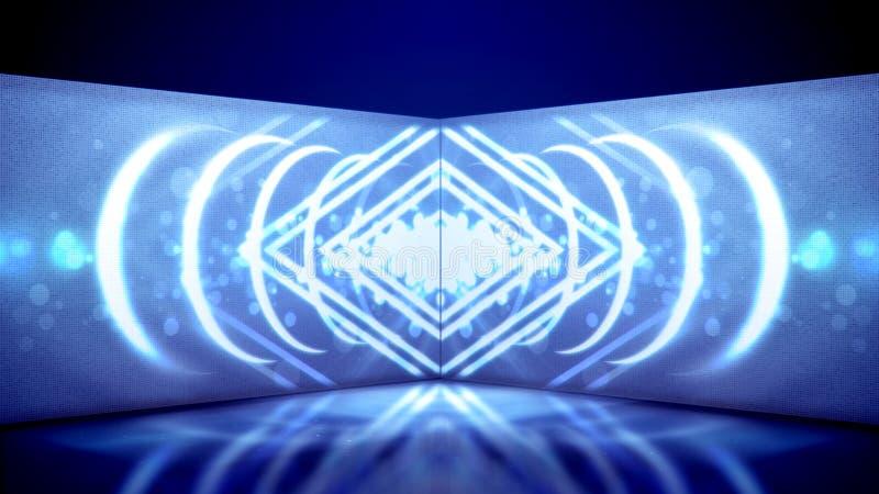 Movimento del tubo al neon dei rombi caleidoscopici royalty illustrazione gratis