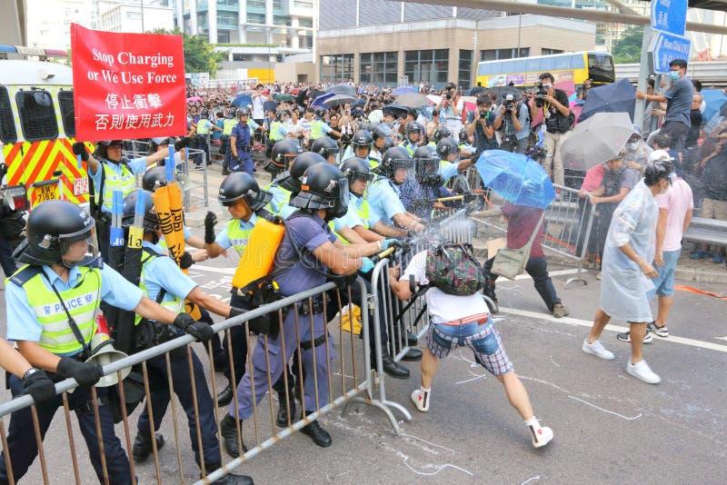 Movimento dell'ombrello in Hong Kong fotografia stock libera da diritti