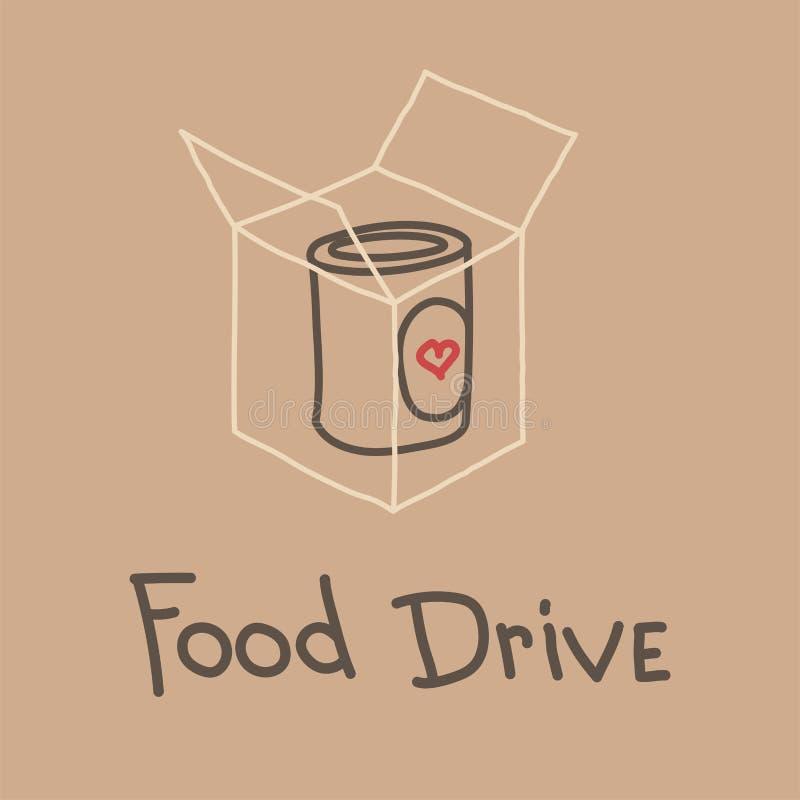 Movimento di carità dell'azionamento dell'alimento, illustrazione di vettore royalty illustrazione gratis