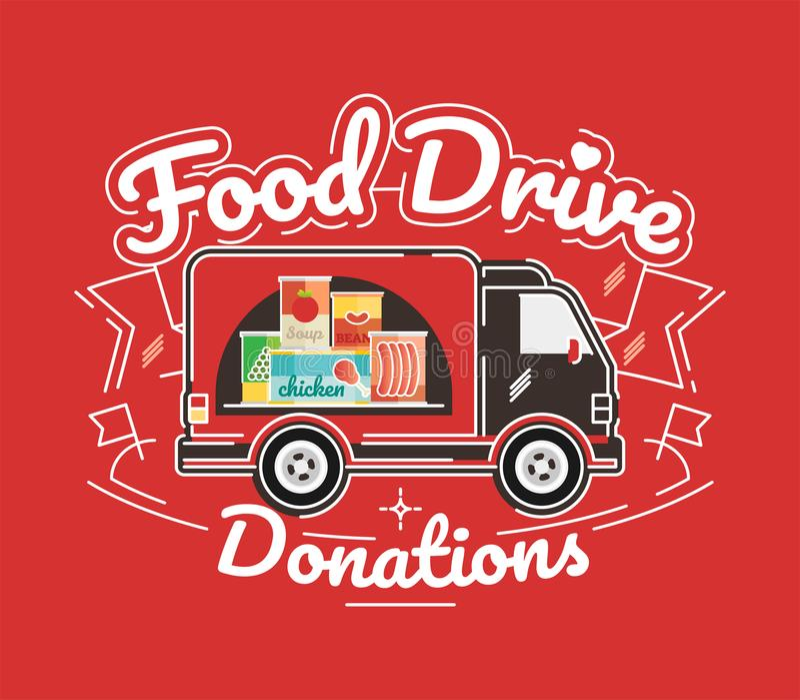 Movimento di carità dell'azionamento dell'alimento, illustrazione di vettore illustrazione vettoriale