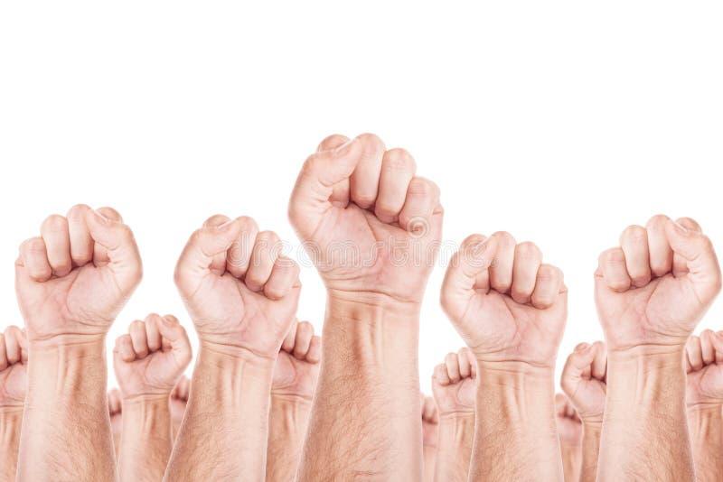 Movimento di lavoro, colpo del sindacato dei lavoratori fotografie stock