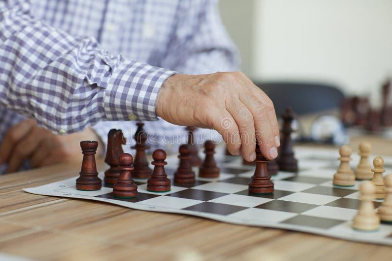 Movimento di scacchi decisivo immagini stock libere da diritti