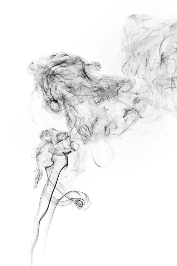 Movimento do gelo do fumo fotografia de stock
