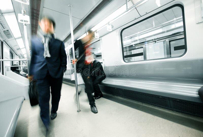 Movimento do metro imagem de stock