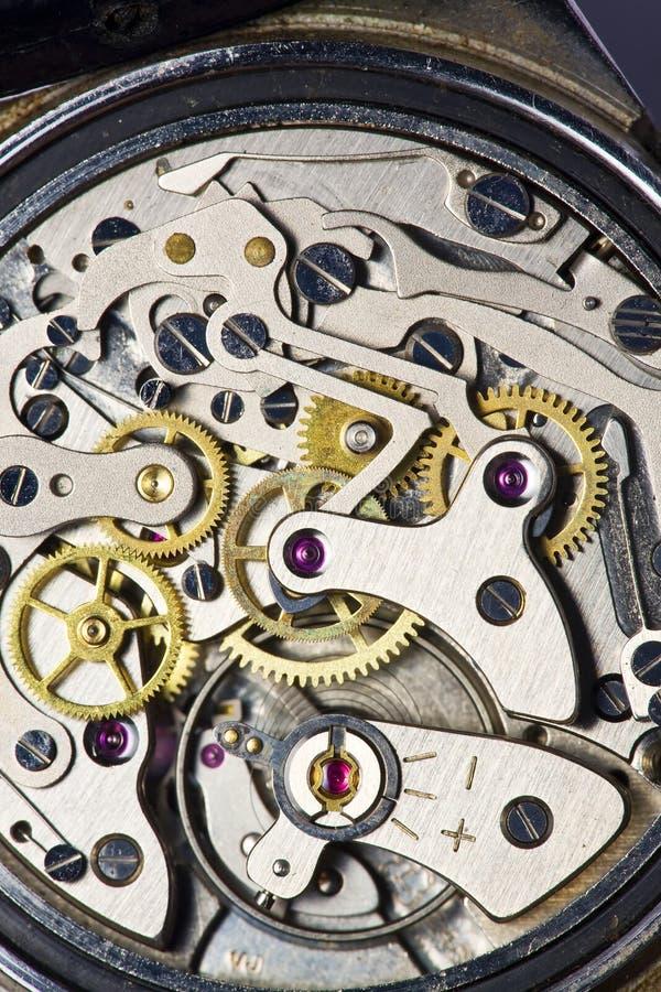 Movimento do relógio do vintage imagem de stock