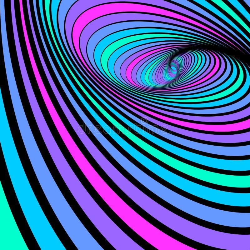 Movimento espiral do giro. Fundo abstrato. ilustração do vetor