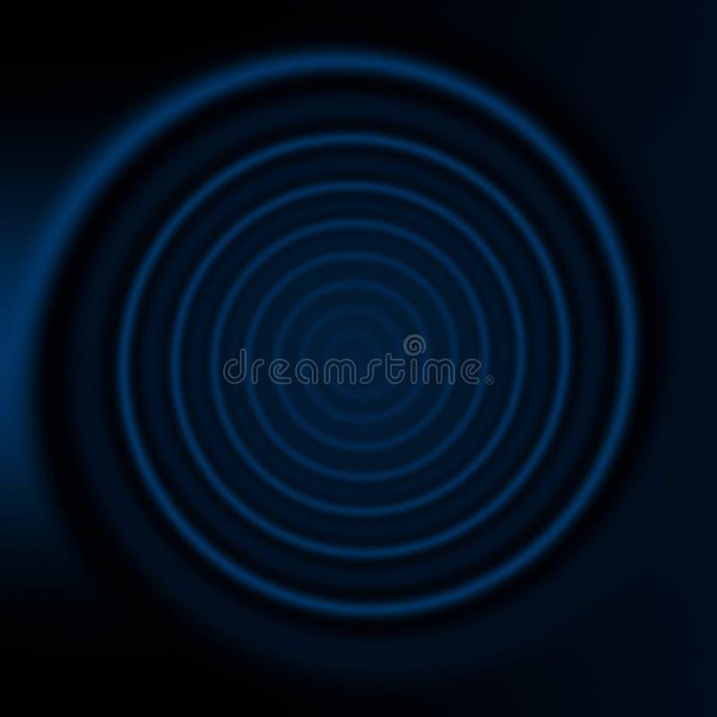 Movimento espiral do giro Fundo azul abstrato ilustração stock