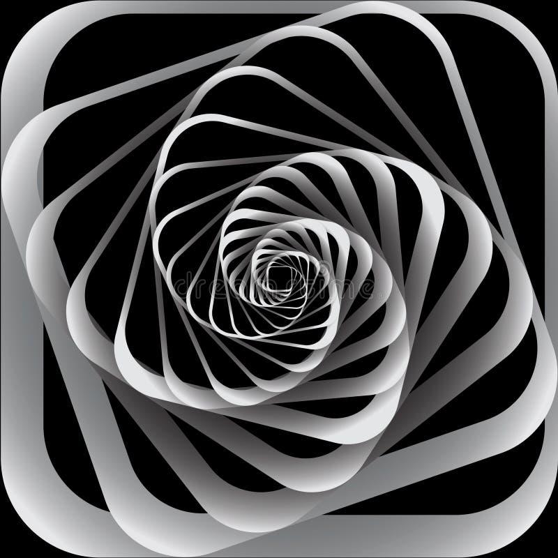 Movimento espiral. Fundo abstrato. ilustração royalty free