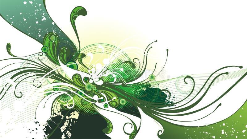 Movimento floral abstrato ilustração royalty free