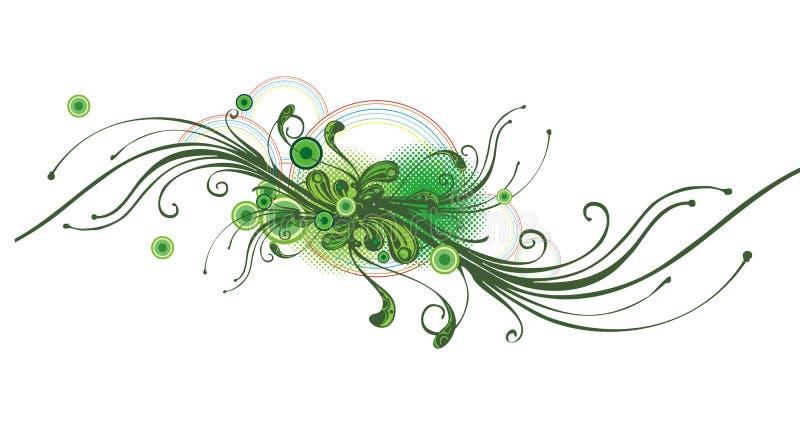 Movimento floreale astratto illustrazione vettoriale