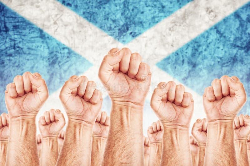 Movimento Labour de Escócia, greve do sindicato dos trabalhadores fotografia de stock