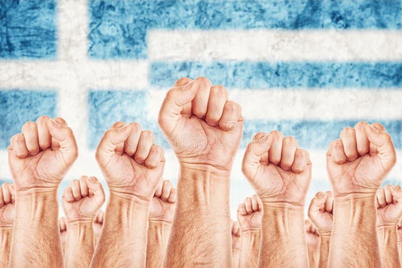 Movimento Labour de Grécia, greve do sindicato dos trabalhadores imagem de stock royalty free