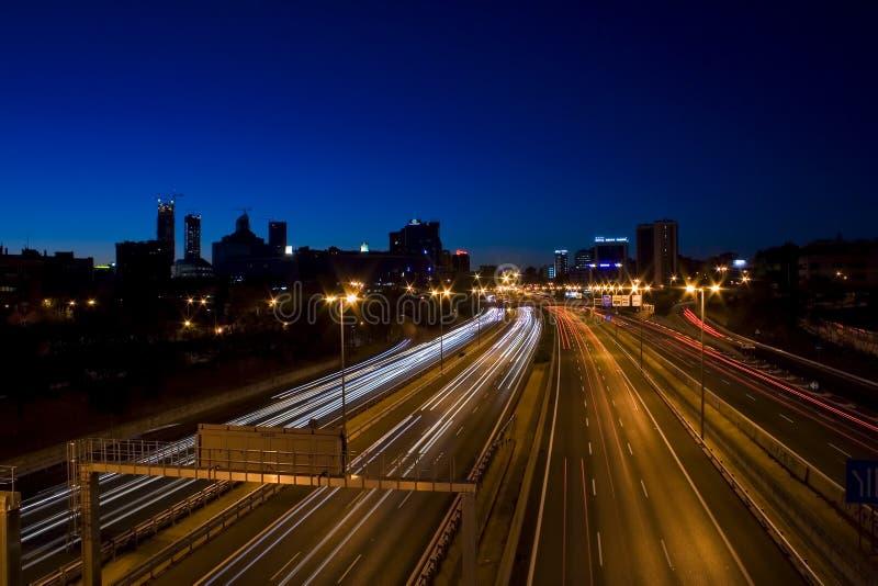 Movimento nella notte fotografie stock
