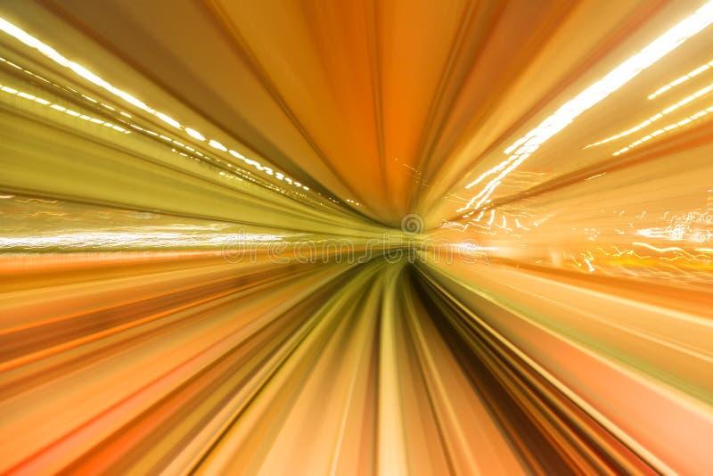 Movimento ridotto astratto verso il futuro, concetto fotografie stock