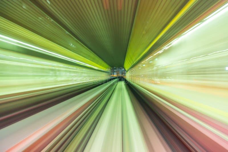 Movimento ridotto astratto verso il futuro, concetto fotografie stock libere da diritti
