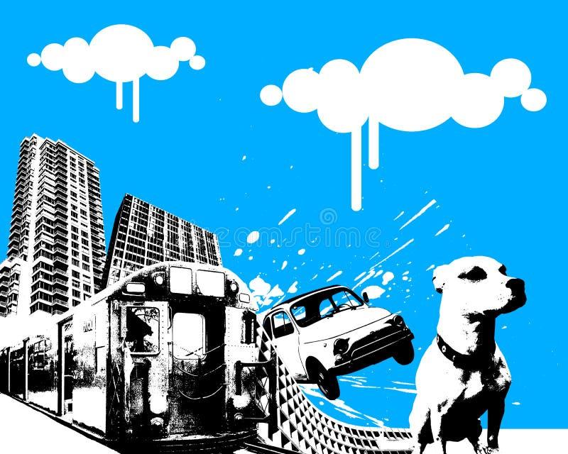 Movimento urbano 02 ilustração do vetor