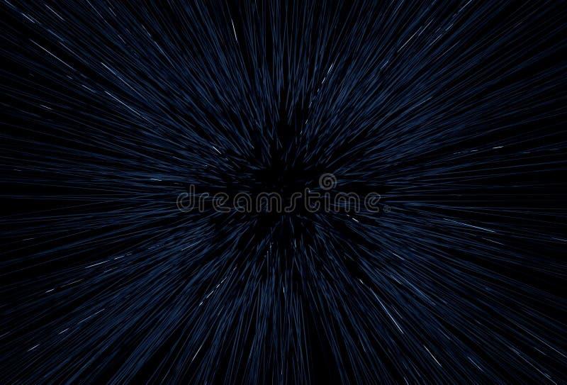 Movimiento abstracto de la velocidad de la luz del espacio ilustración del vector