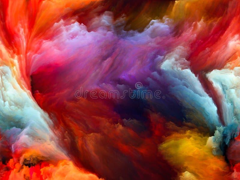 Movimiento accidental del color ilustración del vector