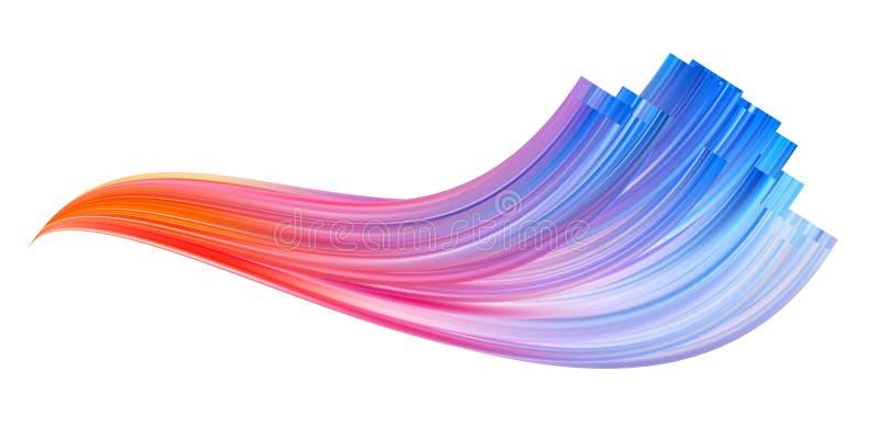 Movimiento colorido del cepillo del flujo L?nea aislada cinta ilustración del vector