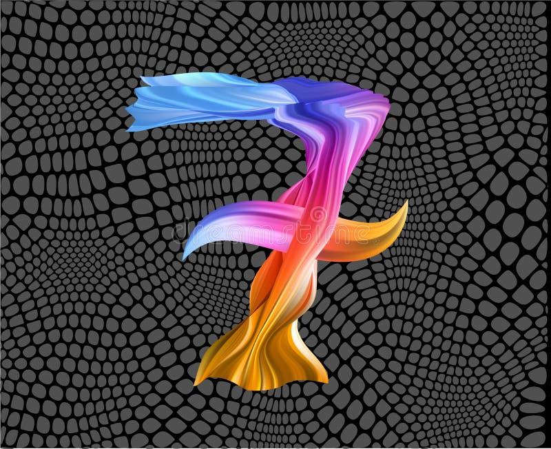 Movimiento colorido del cepillo del flujo L?nea aislada mar de la onda stock de ilustración