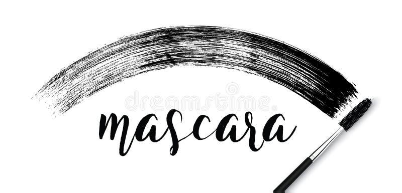 Movimiento cosmético del cepillo del rimel del maquillaje en blanco libre illustration