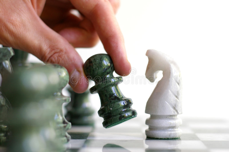 Movimiento de ajedrez imagen de archivo