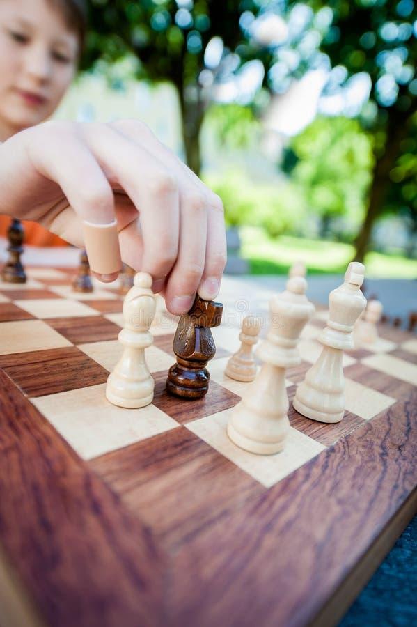 Movimiento de ajedrez siguiente imagen de archivo