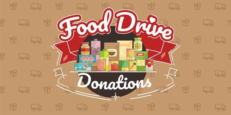 Movimiento de la caridad de la impulsión de la comida, ejemplo del vector libre illustration