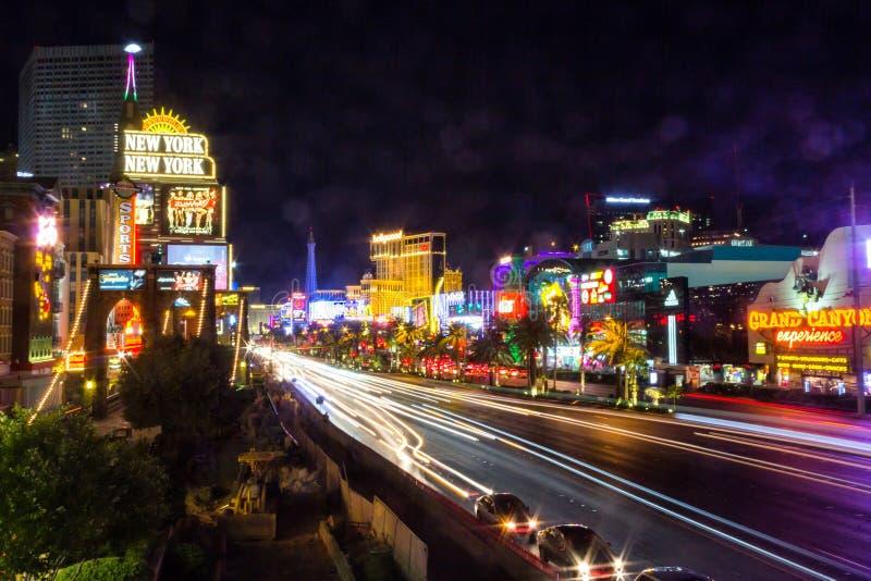 Movimiento de la noche en Vegas imagenes de archivo