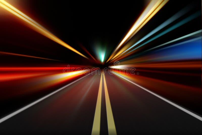 movimiento de la velocidad de la aceleración de la noche fotografía de archivo libre de regalías