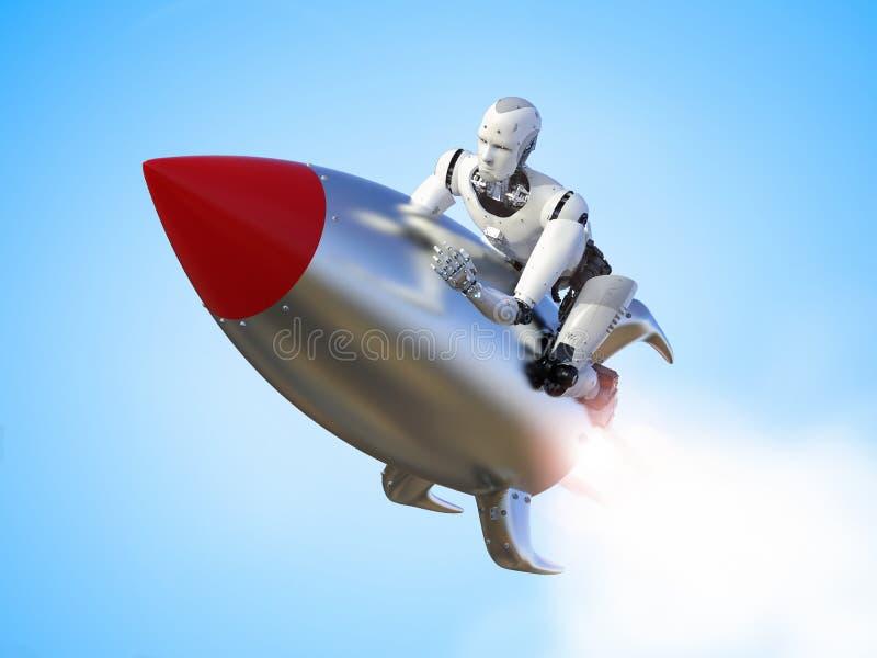 Movimiento de la velocidad del robot libre illustration