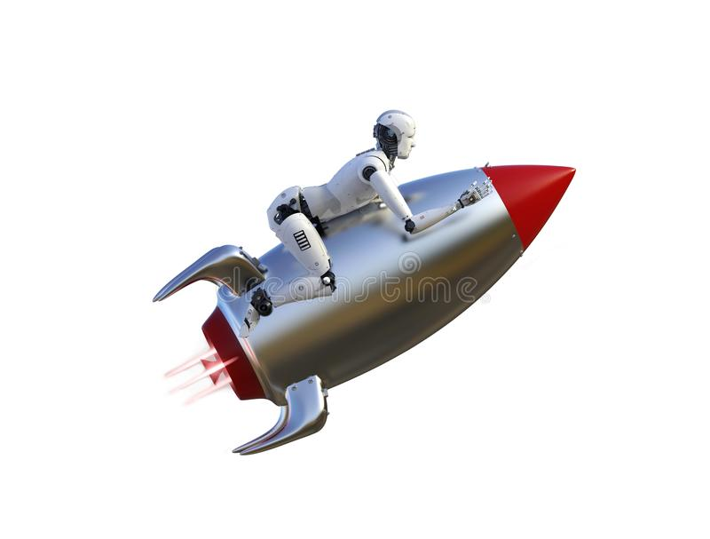 Movimiento de la velocidad del robot stock de ilustración