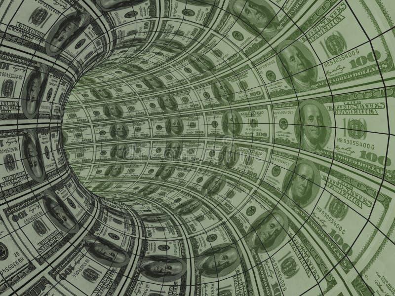 Movimiento de los recursos del dinero ilustración del vector