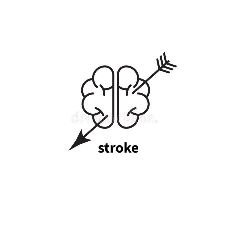Movimiento del cerebro ilustración del vector